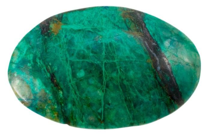 Натурального амазонита насыщенного зеленого цвета