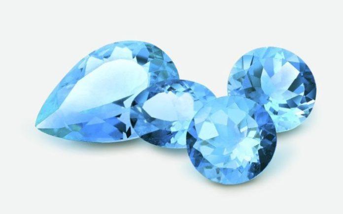 Виды топаза: голубой топаз
