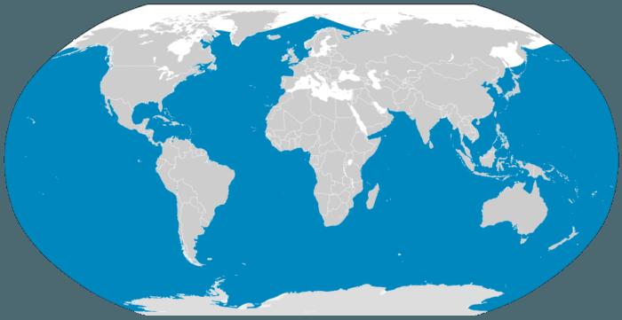 Распространение синего кита